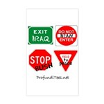 Four Signs of Peace Rectangle Sticker