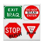 Four Signs of Peace Tile Coaster
