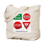 Four Signs of Peace Tote Bag