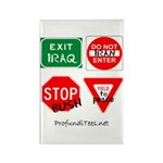 Four Signs of Peace Rectangle Magnet (100 pack)