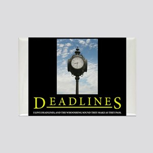 DEADLINES Art Rectangle Magnet