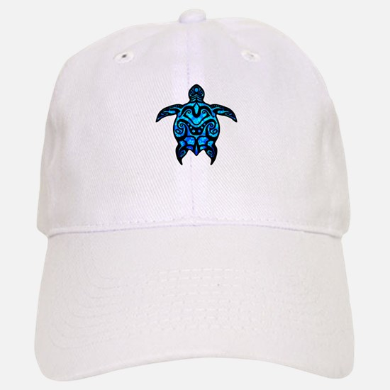 Black Tribal Turtle Baseball Baseball Baseball Cap