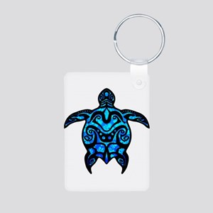 Black Tribal Turtle Keychains