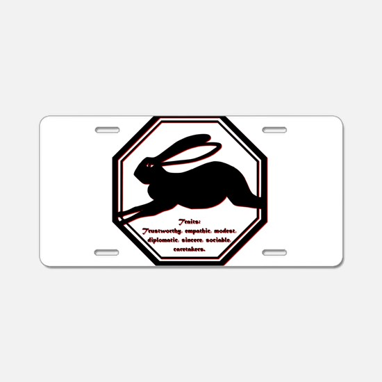Year of the Rabbit - Traits Aluminum License Plate