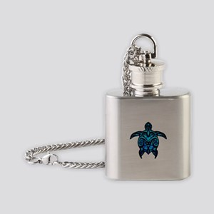 Black Tribal Turtle Flask Necklace