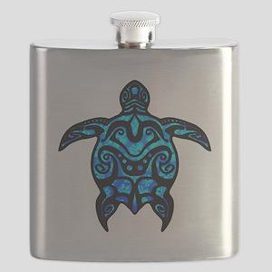 Black Tribal Turtle Flask