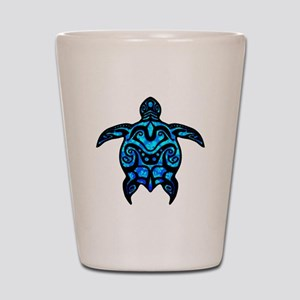 Black Tribal Turtle Shot Glass