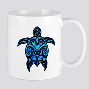 Black Tribal Turtle Mugs