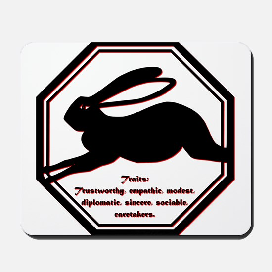 Year of the Rabbit - Traits Mousepad