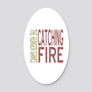 Catching Fire Hunger Games Oval Car Magnet