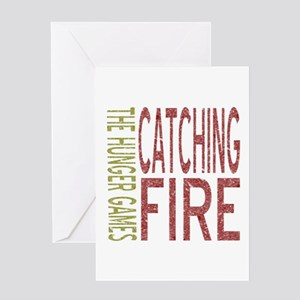Catching Fire Hunger Games Greeting Card