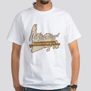 Newfoundland Stranded White T-Shirt