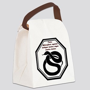 Year of the Snake - Traits Canvas Lunch Bag
