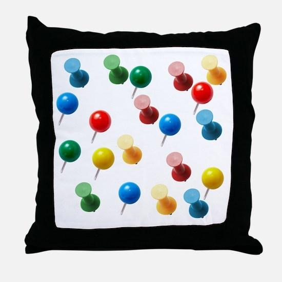 Push Pins Throw Pillow