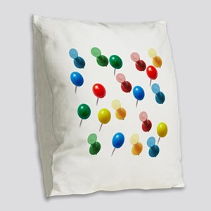 Push Pins Burlap Throw Pillow