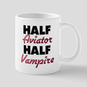 Half Aviator Half Vampire Mugs