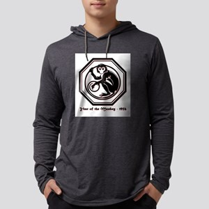 Year of the Monkey - 1956 Mens Hooded Shirt