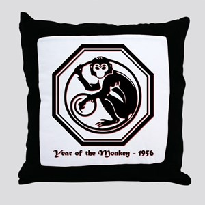 Year of the Monkey - 1956 Throw Pillow
