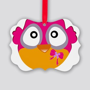 Cute Owl Picture Ornament