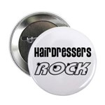 Hairdressers Rock Button