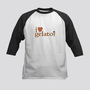 I Love Gelato Kids Baseball Jersey