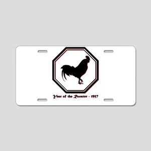 Year of the Rooster - 1957 Aluminum License Plate