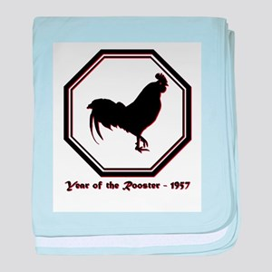 Year of the Rooster - 1957 baby blanket
