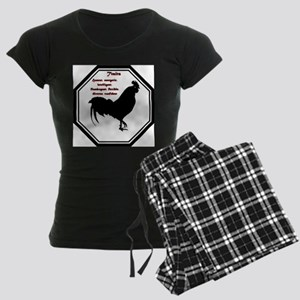 Year of the Rooster - Traits Women's Dark Pajamas