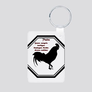 Year of the Rooster - Traits Aluminum Photo Keycha