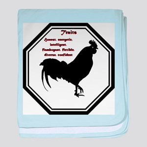 Year of the Rooster - Traits baby blanket