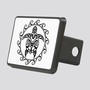 Black Tribal Turtle Sun Hitch Cover