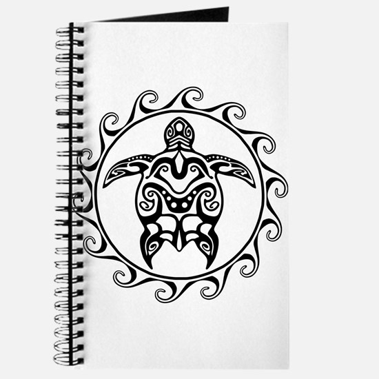 Black Tribal Turtle Sun Journal