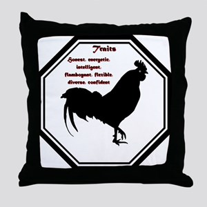 Year of the Rooster - Traits Throw Pillow