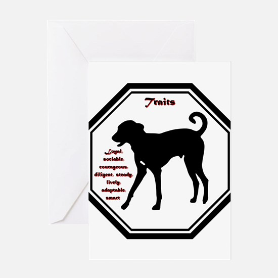Year of the Dog - Traits Greeting Card