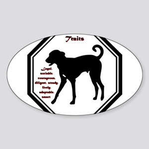Year of the Dog - Traits Sticker (Oval)
