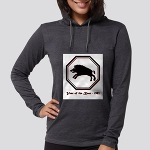 Year of the Boar - 1983 Womens Hooded Shirt