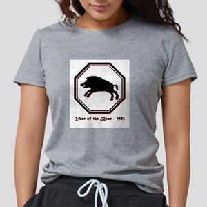 Year of the Boar - 1983 Womens Tri-blend T-Shirt