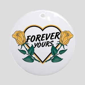 Forever Yours Y Roses Ornament (Round)