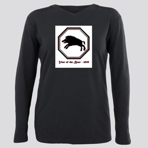 Year of the Boar - 2019 Plus Size Long Sleeve Tee