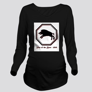 Year of the Boar - 2019 Long Sleeve Maternity T-Sh