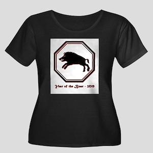 Year of the Boar - 2019 Women's Plus Size Scoop Ne