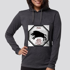 Year of the Boar - Traits Womens Hooded Shirt