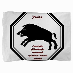 Year of the Boar - Traits Pillow Sham