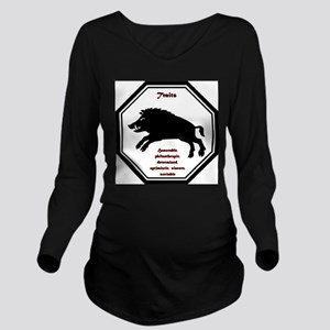 Year of the Boar - Traits Long Sleeve Maternity T-