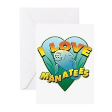 I Love Manatees Greeting Cards (Pk of 10)