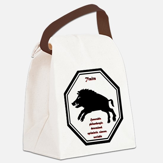 Year of the Boar - Traits Canvas Lunch Bag