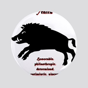 """Year of the Boar - Traits 3.5"""" Button"""