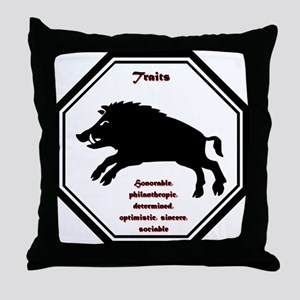 Year of the Boar - Traits Throw Pillow