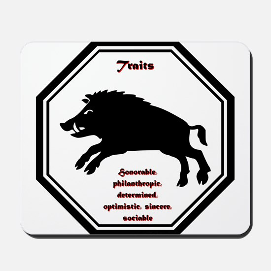 Year of the Boar - Traits Mousepad