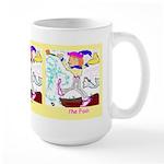 Triple Fool Large Mug *(sunrise yellow border)